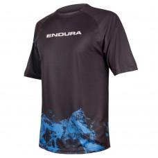 Мужская футболка Endura SingleTrack Print T Mountains LTD